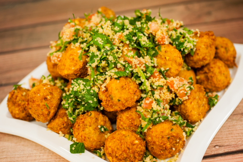 """You are currently viewing Falafel Salad <span class=""""gf"""">GF</span>, <span class=""""df"""">DF</span>, <span class=""""v"""">VG</span>"""