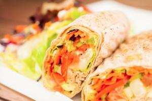 "Vegetarian Pita Wrap <span class=""v"">V</span>"