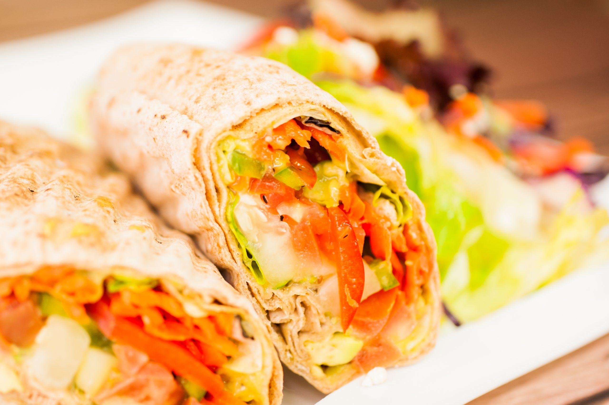 "Greek salad wrap <span class=""v"">V</span>"