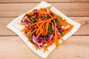 "Carrot & Red Cabbage Salad <span class=""gf"">GF</span> <span class=""df"">DF</span> <span class=""v"">VG</span>"