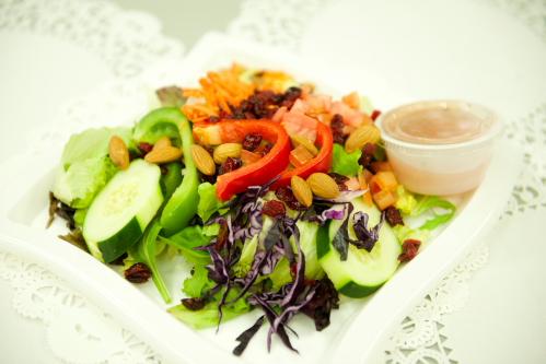 "Cranberry Almond Chicken Salad <span class=""gf"">GF</span> <span class=""df"">DF</span> <span class=""n"">N</span>"