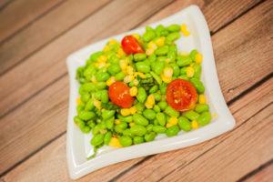 "Edamame Salad <span class=""gf"">GF</span> <span class=""df"">DF</span> <span class=""v"">VG</span>"
