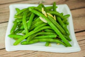 """Green Beans Amandine <span class=""""gf"""">GF</span> <span class=""""df"""">DF</span> <span class=""""v"""">VG</span> <span class=""""n"""">N</span>"""