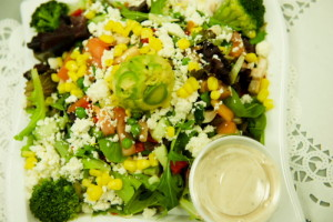 """Read more about the article Mediterranean All-In-One Salad <span class=""""gf"""">GF</span> <span class=""""v"""">V</span>"""
