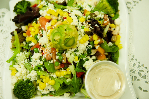 """You are currently viewing Mediterranean All-In-One Salad <span class=""""gf"""">GF</span> <span class=""""v"""">V</span>"""