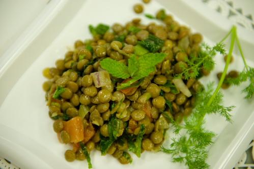 "Green Lentil Salad <span class=""gf"">GF</span> <span class=""df"">DF</span> <span class=""v"">VG</span>"