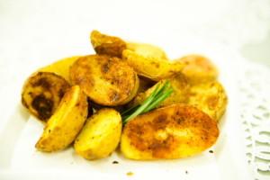 "Garlic Roasted Potato Wedges <span class=""gf"">GF</span> <span class=""v"">V</span>"