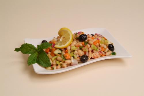 "White Bean Salad <span class=""gf"">GF</span> <span class=""df"">DF</span> <span class=""v"">VG</span>"