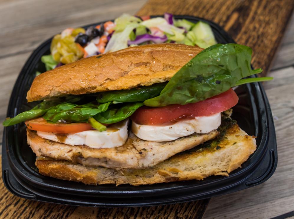 Grilled Chicken & Fresh Mozzarella Sandwich